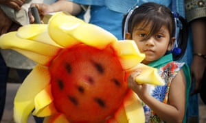 People take part in the global climate march in Dhaka, Bangladesh, on Saturday.