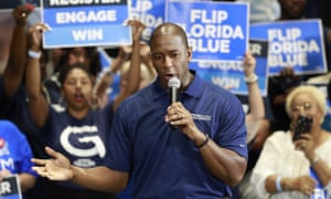 Andrew Gillum at a rally in Florida in 2019.