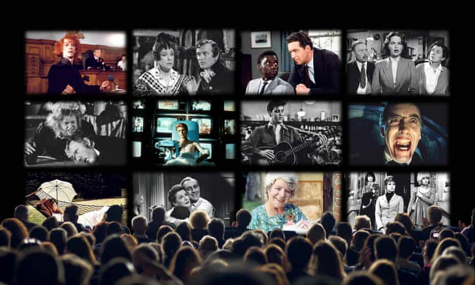 Some of the shows and films available on Talking Pictures, from left to right, top to bottom: The Naked Civil Servant, The Pickwick Papers, Gideon's Way, Hindle Wakes, The Amazing Mr Blunden, The Man Who Feel to Earth, King Creole, Dracula, The Go-Between, Last Holiday, For the Love of Ada, Up the Junction.