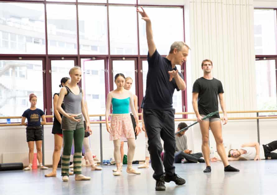 'The characters are so enticing': David Bintley rehearsing The Tempest with members of Birmingham Royal Ballet.