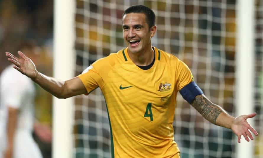Tim Cahill in action for Socceroos