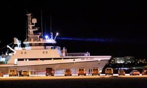 The Polar Nanoq fishing trawler, on which Thomas Olsen was a crew member.