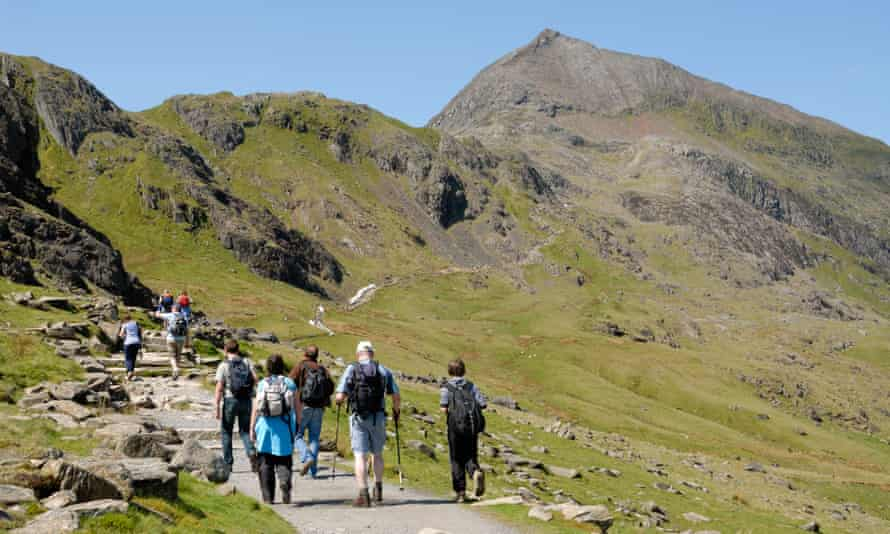 Hikers on Snowdon, or Yr Wyddfa