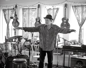 Buddy Miller, at home in his studio