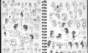 Character sketches from Amanita's Samorost series