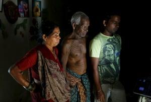 Mahettar Ram Tandon, 76 a follower of Ramnami Samaj