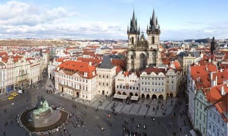 Prague, Old Town Square. Staromestske namestiCCF7ET Prague, Old Town Square. Staromestske namesti