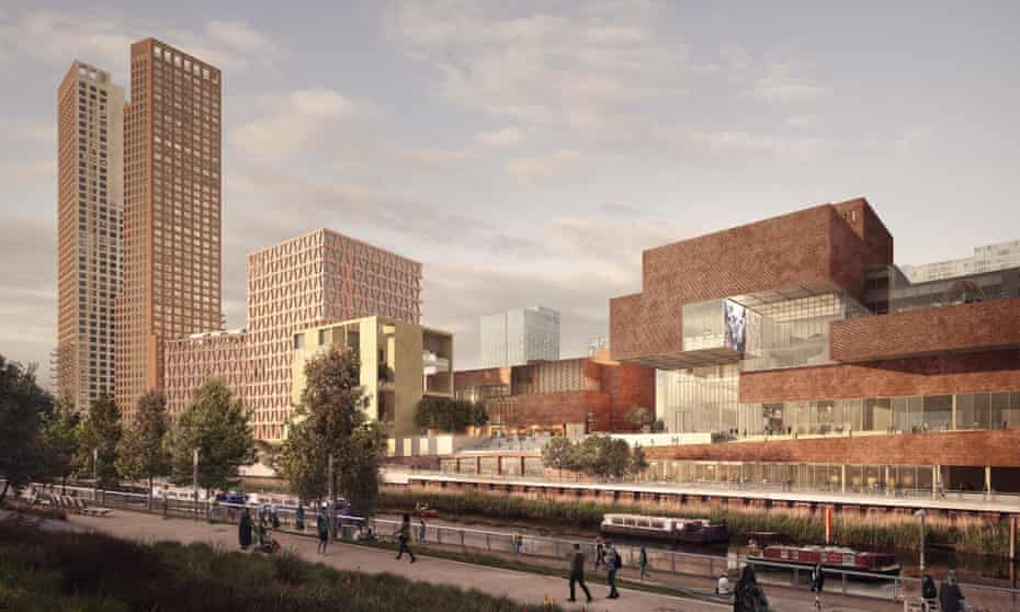 A render of Stratford Waterfront, part of the park's new Cultural and Education District.