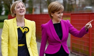 Scottish first minister Nicola Sturgeon (right) walks with MP Hannah Bardell ahead of delivering a speech on child poverty in 2015.