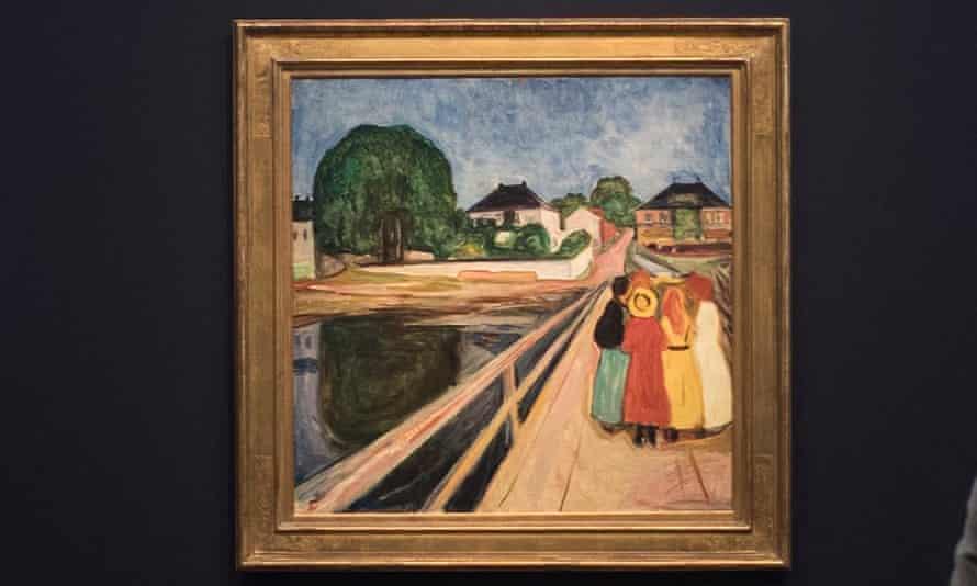 Edvard Munch's Girls on the Bridge, at the Barberini Museum, Potsdam.