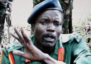 Joseph Kony pictured in May 2006 in Kenya