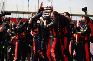 Verstappen celebrates.