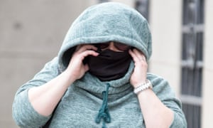 Viktoria Tautz, 34, arrives at the Old Bailey on the second day of her trial.