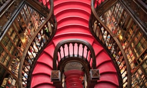 Stairway to heaven: the colourful interior of the Livraria Lello bookstore which is said to have inspired JK Rowling.