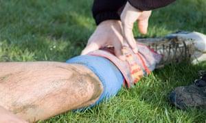 An injured Sunday league player