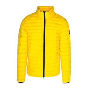 Recycled polyester yellow jacket, £189.90, ecoalf.com.