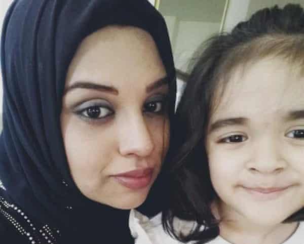 Fernaaz Hussain and daughter