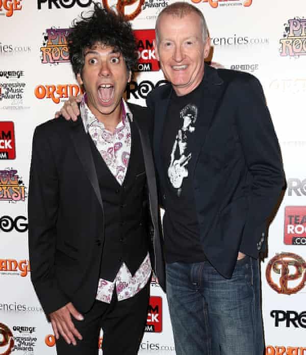 Kavus Torabi and Steve Davis at the Progressive Music Awards in 2014