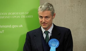 Zac Goldsmith at his election count.