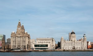 Liverpool Waterfront with the liver birds.