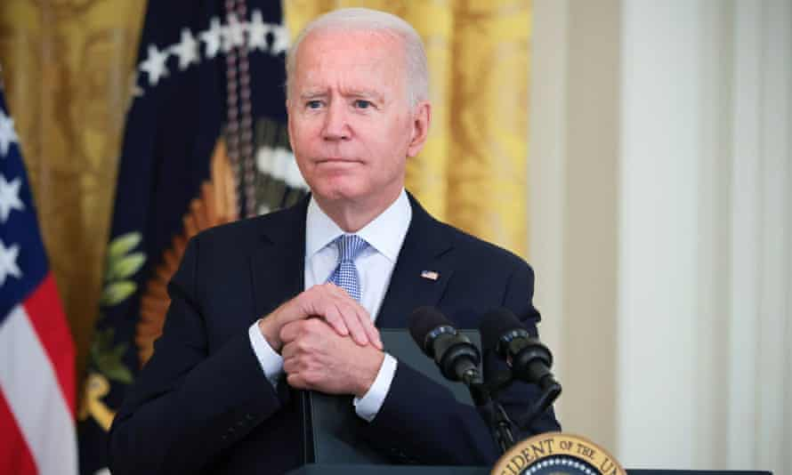 Joe Biden answers questions at the White House