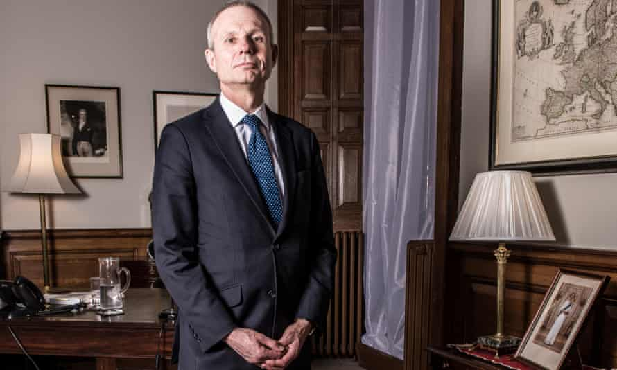 David Lidington, minister for Europe, at the Foreign Office in Whitehall.