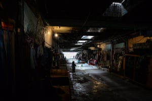 Syrian refugees in the basement of an abandoned Pepsi factory close to Saida in Lebanon