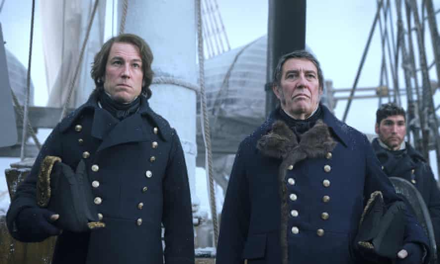 Tobias Menzies as Capt James Fitzjames and Ciaran Hinds as Sir John Franklin in The Terror