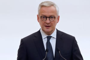 French economy and finance minister Bruno Le Maire speaks during a press conference in Paris on 15 October, 2020.
