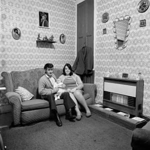 Residents of June street, Salford, 1973
