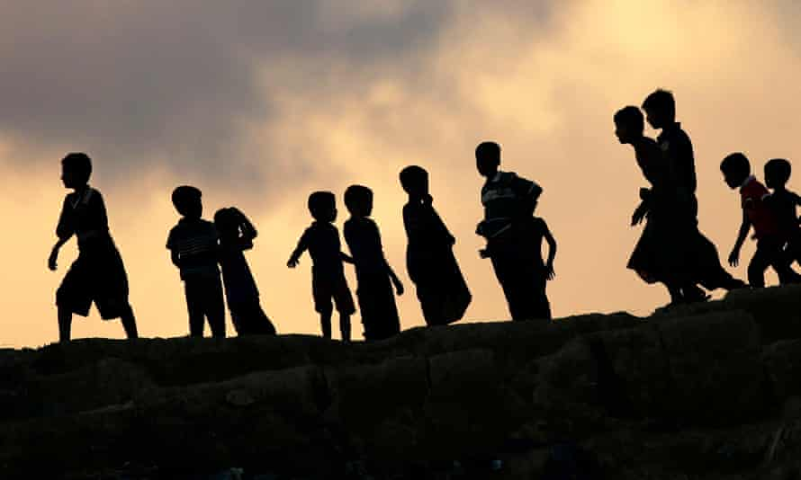 Rohingya children in Cox's Bazar.