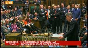 Hammond presenting the autumn statement