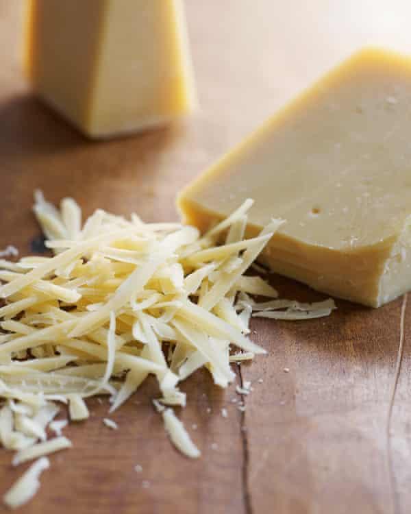 Protein shake ... a decent cheddar beats Parmesan.