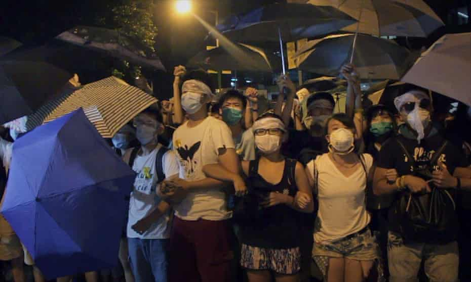 A still image from the documentary Yellowing about the Hong Kong street protests during September 2014.