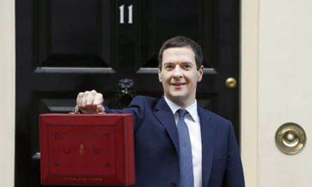 George Osborne poses with the budget box outside No 11 Downing Street during his time as chancellor.