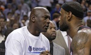 Michael Jordan (left) and LeBron James