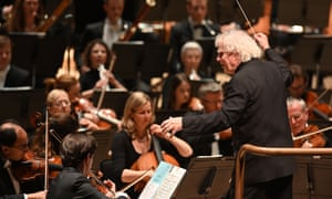 Sir Simon Rattle conducts the LSO in January this year.