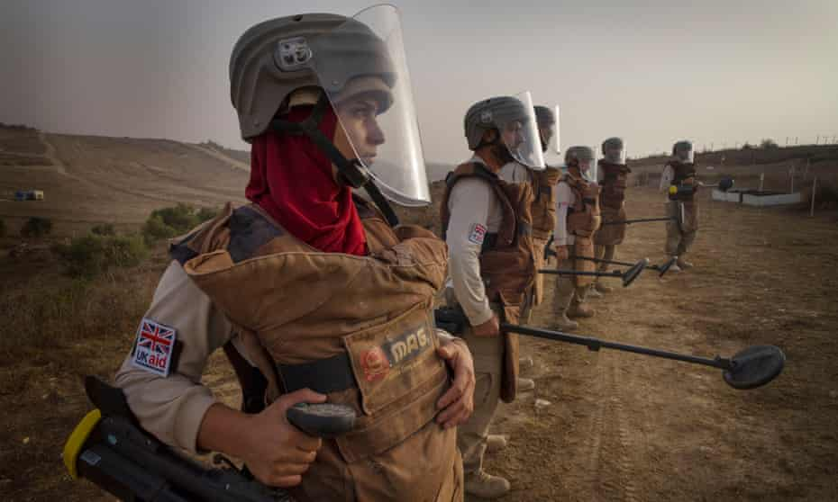 'Being a women doing this was strange. But we had lots of support': a team clearing mines in Lebanon.