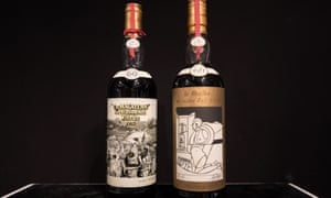 Two bottles of whisky, Macallan Peter Blake 1926 (left) and Valerio Adami 1926