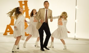 Episodic meander ... Leonardo DiCaprio, centre, in Once Upon a Time in Hollywood.