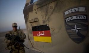 German soldiers on patrol in Mazar-i-Sharif, Afghanistan, in 2009.