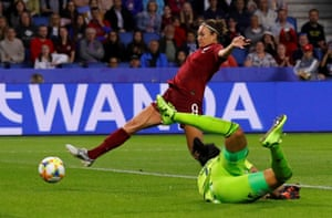Jodie Taylor turns the ball into an empty net.