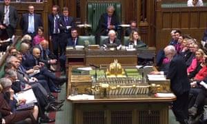 Debate in parliament