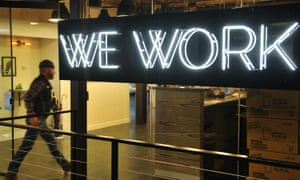 A WeWork co-working space in Washington DC