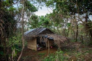 The students have even built a hut to provide shelter when it rains and to sleep in when they work late into the nights on assignments