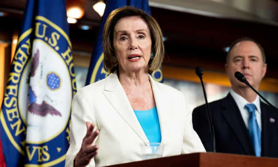 Nancy Pelosi speaks at her weekly press conference where she introduced the members of a select committee to investigate the attack on the US Capitol.