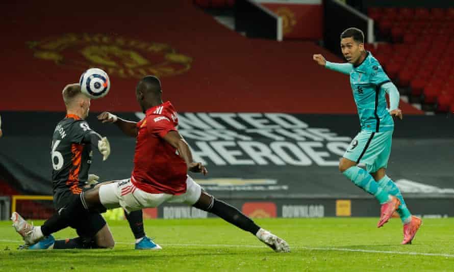روبرتو فیرمینو روز پنجشنبه گل سوم لیورپول را به ثمر رساند - آخرین گل منچستر یونایتد از روی یک گل.