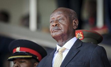 Yoweri Museveni in February.