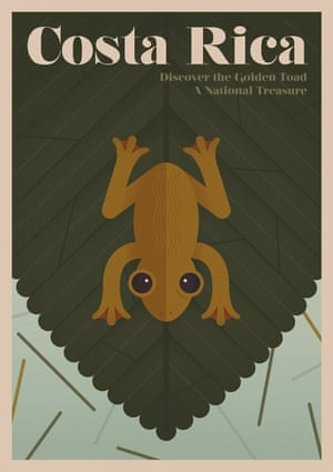 The Golden Toad, Costa Rica, from a series of posters entitled Unknown Tourism by Expedia
