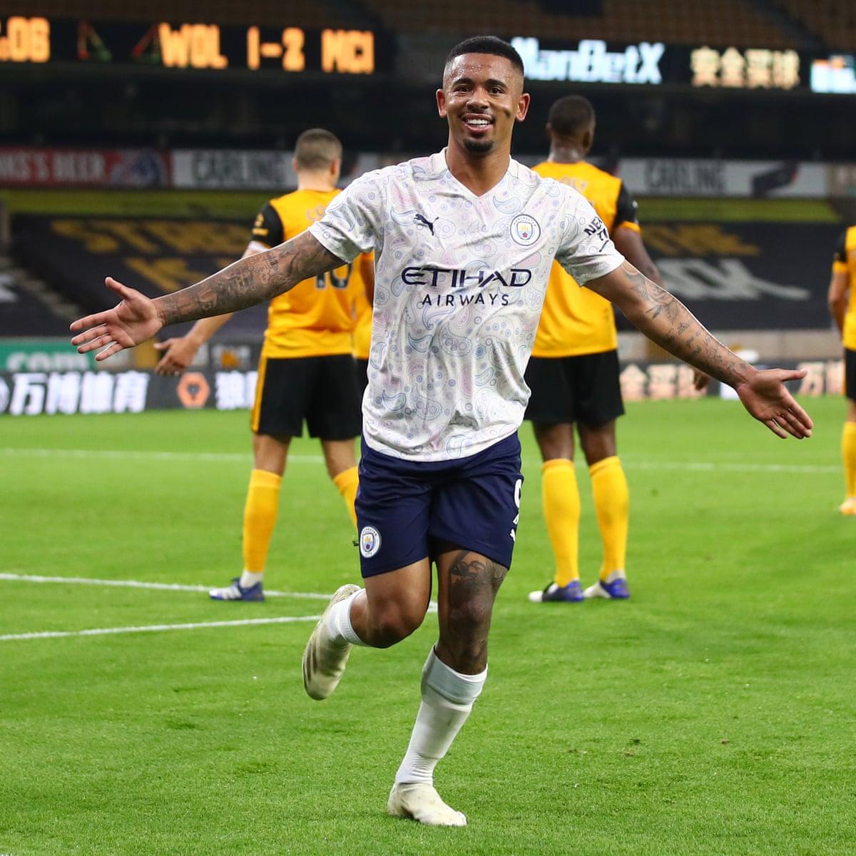 Gabriel Jesus Ensures Manchester City Start With A Win Despite Wolves Rally Premier League The Guardian